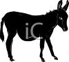 A donkey silhouette clipart