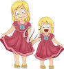 Two sisters clipart