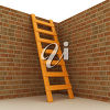 A ladder at a brick wall clipart
