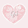 A rose heart clipart