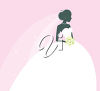 A bride in white clipart