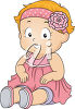 A baby girl clipart