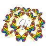 Colourful butterflies clipart