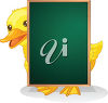 A duck with a chalkboard clipart