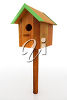 A wooden birdhouse clipart