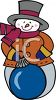 A snowman and fall clipart