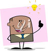 A man having an idea clipart