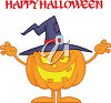 A halloween jack-o-lantern greeting clipart