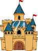 Clipart Illustration of a Castle