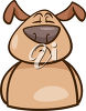 A dog looking snooty clipart