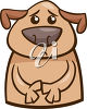 A dog looking scared clipart