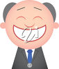 A man with a big smile clipart