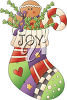 A christmas stocking clipart