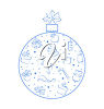 A christmas ornament clipart
