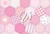 Clipart Illustration of a Pink Quilt