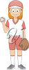 A little baseball player clipart