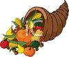 Clipart Illustration of a Horn of Plenty For Thanksgiving
