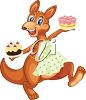 Clipart Illustration of a Happy Kangaroo