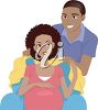 A couple expecting a baby clipart