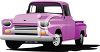 An old pickup truck clipart