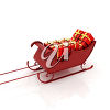 Toys in a sleigh clipart