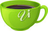 Clipart Illustration of a Cup of Coffee