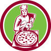 A pizza maker clipart