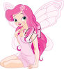 A girl with wings clipart