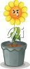A potted flower clipart