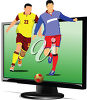 Sports on television clipart