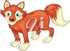 Clipart Illustration of a Fox