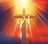 A cross bathed in sunlight clipart