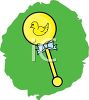 A rattle with a bow clipart