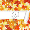 A leaf background with a torn strip clipart