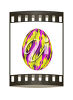 An easter egg on film clipart