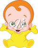 A little redheaded baby clipart