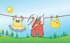 A clothesline clipart