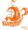 Summer sailing clipart