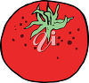 A red tomato clipart