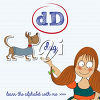 A girl and the letter d clipart