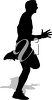 A silhouette of a runner clipart