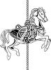 A horse on a carousel clipart