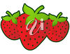 A group of strawberries clipart