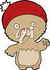 A bear in a cap clipart