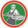 A pizza chef clipart