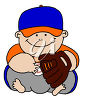 A baby boy ready for baseball clipart