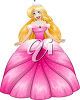 A princess in a gown clipart
