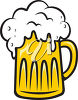 A mug of beer clipart