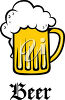 Clipart Illustration of Beer