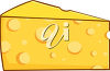 A wedge of cheese clipart